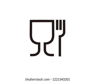 Food grade icon sign symbol