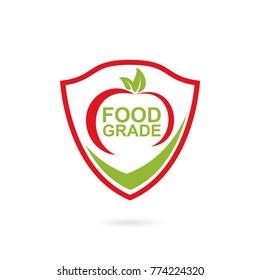 food grade logo icon with tomato vegetable icon