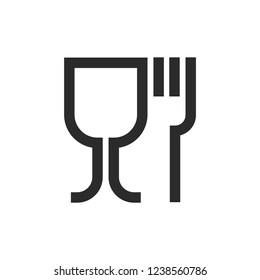 Food grade symbol trendy style vector image
