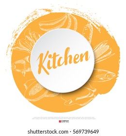 Food hand draw poster, illustration