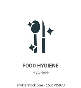 Food hygiene glyph icon vector on white background. Flat vector food hygiene icon symbol sign from modern hygiene collection for mobile concept and web apps design.