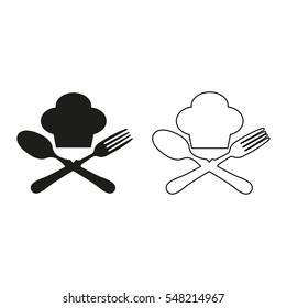 food icon -  black vector icon