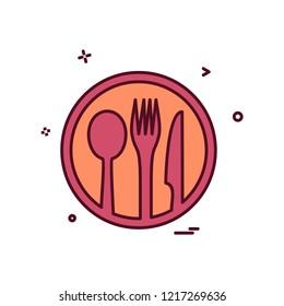 Food icon design vector