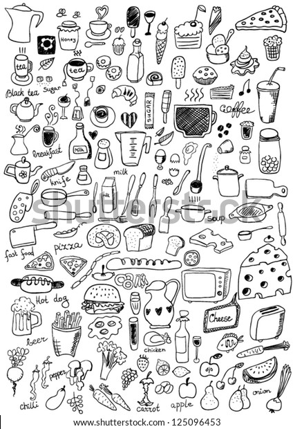 Food Icons Stock Vector (Royalty Free) 125096453