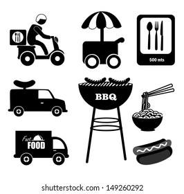 food icons over white background vector illustration