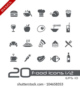 Food Icons - Set 1 of 2 // Basics
