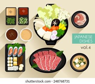 Food Illustration : Japanese food :Vector Illustration