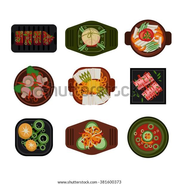 food illustration korean food vector illustration stock vector royalty free 381600373 https www shutterstock com image vector food illustration korean vector dishes plates 381600373