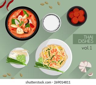 Food Illustration : Thai food :Vector Illustration