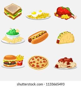 food illustration vector design