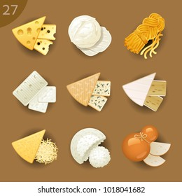 Food ingredients. Cheese