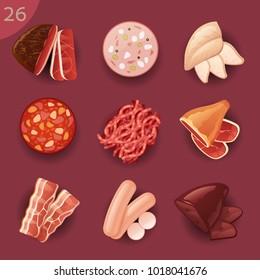 Food ingredients. Meat