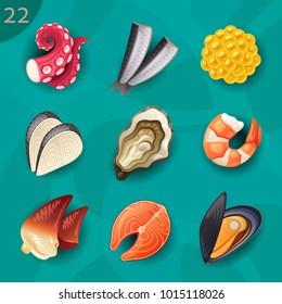 Food ingredients seafood