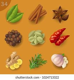 Food ingredients. Spices