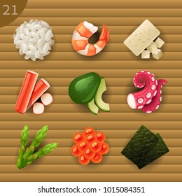 Food ingredients for Sushi