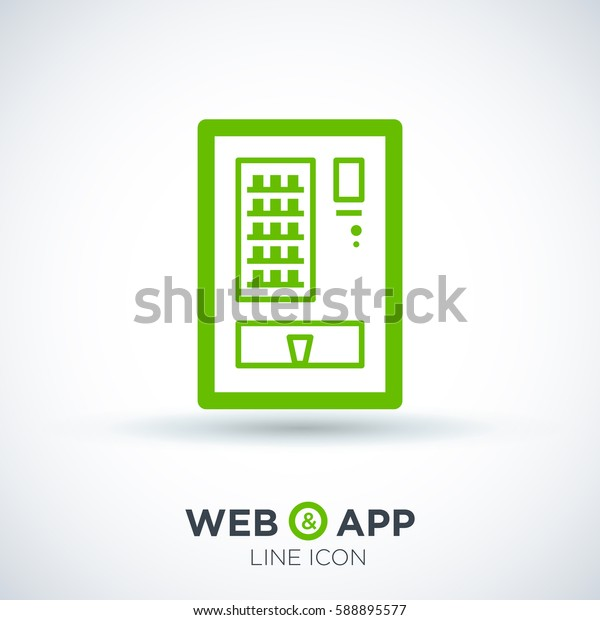 food isolated minimal icon. vending machine graph line vector icon for websites and mobile minimalistic flat design.