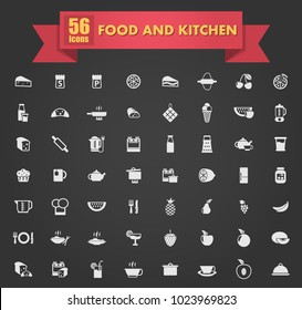 food and kitchen vector icons for your creative ideas