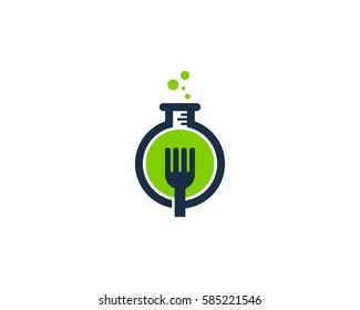 Food Lab Logo Design Element
