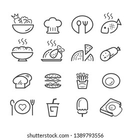 food line icon set.vector eps 10