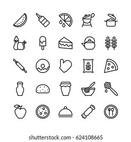 Food Line Vector Icons 15
