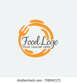 Food logo design illustration