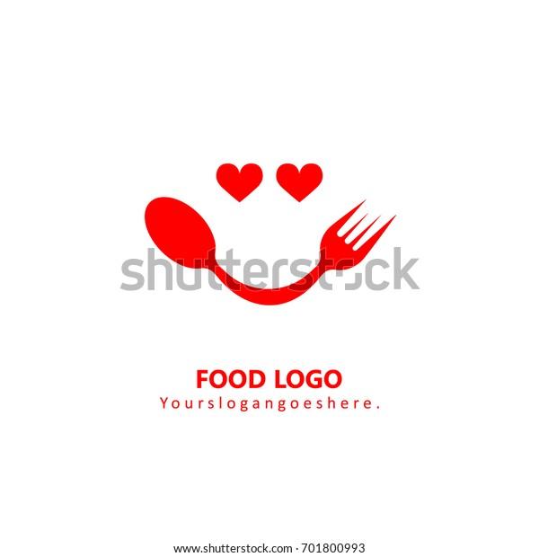 Vector De Stock Libre De Regalias Sobre Logo De Comida De