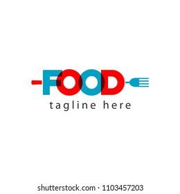Food Logo Letter Vector Template Design Illustration