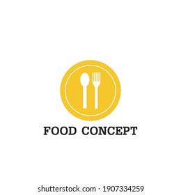 Food logo set icon vector, farm fresh market, natural product firm etc.