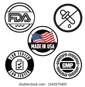 Food Logo Tested FDA GMP