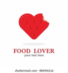 FOOD LOVER / FOOD IN LOVE / HEART OF FOOD / RED STAWBERRY LOGO