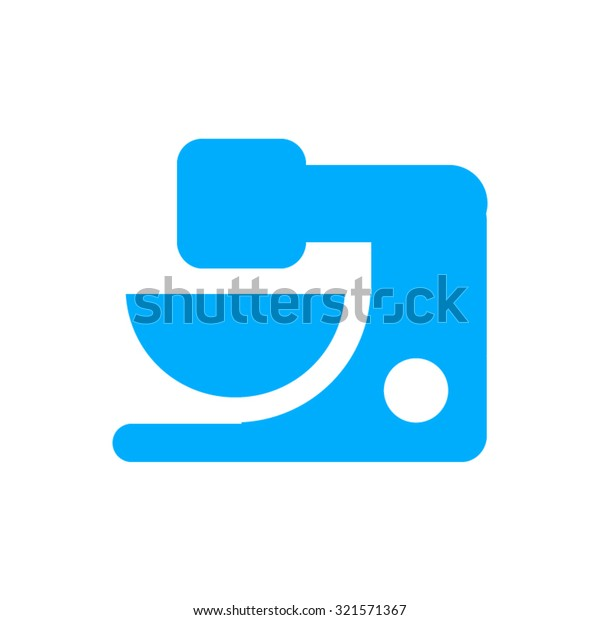 Food Mixer Icon Modern Flat Blue Stock Vector (Royalty Free