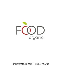 Food organic. Template for logo