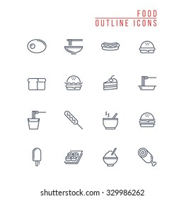 Food Outline Icons