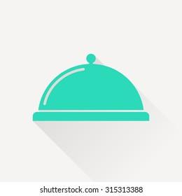 Food platter serving sign icon