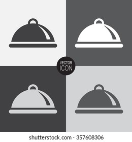 Food platter serving vector icon.
