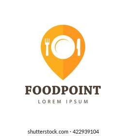 Food Point Vector Icon, Logo, Sign, Symbol Template