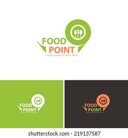 Food Point Vector Icons, Logos, Sign, Symbol Template