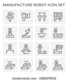 Food processing and pork icon set.