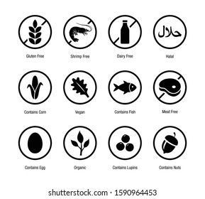 Food & Product Icon Symbol for Packaging Label