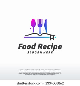 Food Recipe logo designs concept vector, Food Book logo