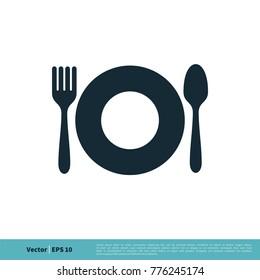 Food / Restaurant Icon Vector Logo Template Illustration Design. Vector EPS 10.