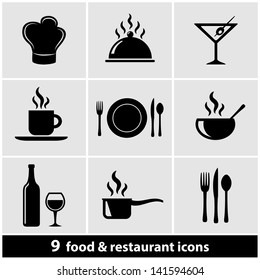 Food & Restaurant Icons Set