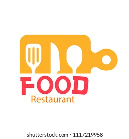 Food Restaurant Logo Kitchenware Background Vector Image