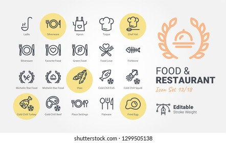 Food & Restaurant vector icons