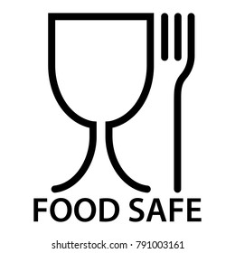 food safe icon, a fork and a glass symbol, food safety material
