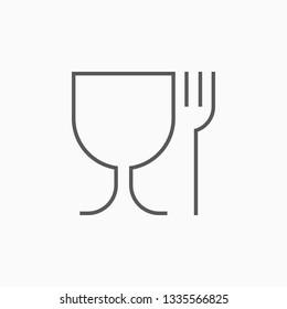 food safe icon, food grade vector