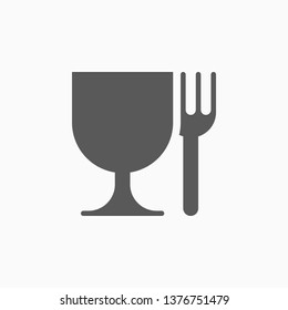food safe icon, food grade vector