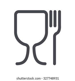 food safe icon. Symbols for marking plastic dishes.
