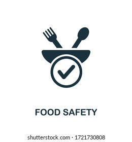 Food Safety icon from organic farming collection. Simple line Food Safety icon for templates, web design and infographics