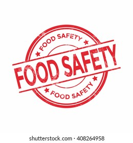 Food safety rubber stamp, vector illustration isolated on white background